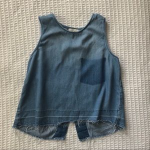 Anthropologie Cloth & Stone chambray split back
